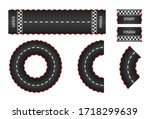 infinity race. track with start ... | Shutterstock .eps vector #1718299639