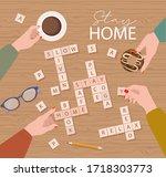 stay home motivation poster.... | Shutterstock .eps vector #1718303773