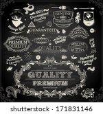 vector set of calligraphic... | Shutterstock .eps vector #171831146