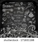 hand drawn floral ornaments... | Shutterstock .eps vector #171831188