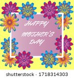 happy mothers day  card with...   Shutterstock .eps vector #1718314303