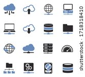 server icons. two tone flat... | Shutterstock .eps vector #1718318410