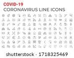 coronavirus covid 19 pandemic... | Shutterstock .eps vector #1718325469