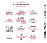 Vintage Valentine's day  design elements. Also available as raster JPG image.