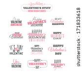 vintage valentine's day  design ... | Shutterstock .eps vector #171833618