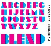 vector geometric alphabet.... | Shutterstock .eps vector #171833633