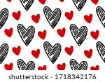 vector abstract seamless hand...   Shutterstock .eps vector #1718342176