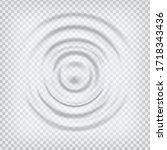 ripple splash water waves...   Shutterstock .eps vector #1718343436