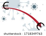 vector illustration of economic ... | Shutterstock .eps vector #1718349763