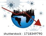 vector illustration of economic ... | Shutterstock .eps vector #1718349790