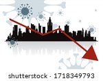 vector illustration of economic ... | Shutterstock .eps vector #1718349793
