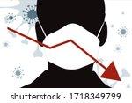 vector illustration of economic ... | Shutterstock .eps vector #1718349799