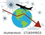 vector illustration of travel... | Shutterstock .eps vector #1718349823