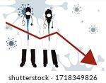 vector illustration of economic ... | Shutterstock .eps vector #1718349826