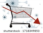 vector illustration of economic ... | Shutterstock .eps vector #1718349853
