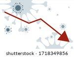 vector illustration of economic ... | Shutterstock .eps vector #1718349856