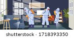 disinfecting anti coronavirus... | Shutterstock .eps vector #1718393350