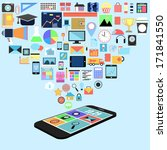social media with applications... | Shutterstock . vector #171841550