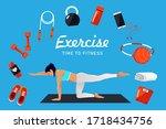 fitness infographics elements....   Shutterstock .eps vector #1718434756