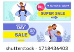 happy father's day celebration. ...   Shutterstock .eps vector #1718436403