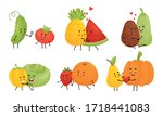 Happy Fruits And Vegetables...