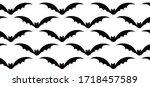flying bats vector background... | Shutterstock .eps vector #1718457589