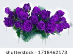 Bouquet Of Pink Purple Roses....