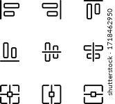 align icons collection. set of...