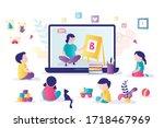 online early childhood... | Shutterstock .eps vector #1718467969