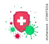 medical shield. bacterial and... | Shutterstock .eps vector #1718473216