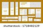 set of white luxury web banners ... | Shutterstock .eps vector #1718482129
