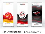 black friday advertising set of ... | Shutterstock .eps vector #1718486743
