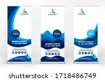 roll up design set  creative... | Shutterstock .eps vector #1718486749