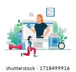 vector flat illustration of... | Shutterstock .eps vector #1718499916