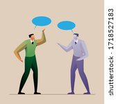 business concept leadership... | Shutterstock .eps vector #1718527183