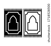 prayer rug line and glyph icon  ... | Shutterstock .eps vector #1718528500