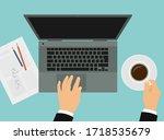 flat design illustration of a...   Shutterstock .eps vector #1718535679