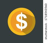 dollar symbol in circle .... | Shutterstock .eps vector #1718543560