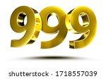 3d Illustration Numbers 999...