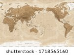 world map   pacific china asia... | Shutterstock .eps vector #1718565160