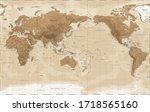 World Map   Pacific China Asia...