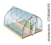 isometric 3d realistic vector... | Shutterstock .eps vector #1718568193