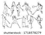 set of illustrations of ten... | Shutterstock .eps vector #1718578279