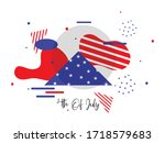 abstract fourth of july... | Shutterstock .eps vector #1718579683