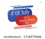 abstract fourth of july... | Shutterstock .eps vector #1718579686
