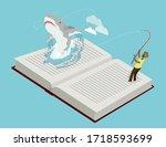 Man Fishing Great White Shark...