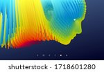 abstract digital human face.... | Shutterstock .eps vector #1718601280