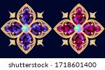 two stunning precious brooches... | Shutterstock .eps vector #1718601400