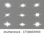 glowing white light effect.... | Shutterstock .eps vector #1718603443