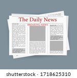 newspaper  great design for any ... | Shutterstock .eps vector #1718625310